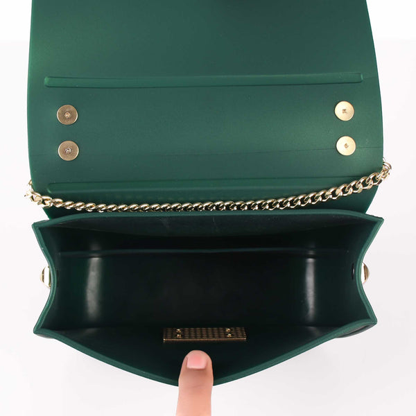 The Wavey Patch Green Sling Bag