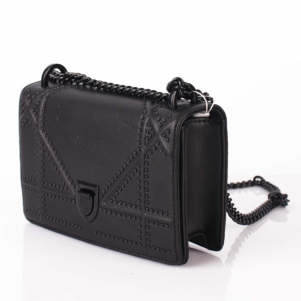 The Pricey Pearls Black Sling Bag