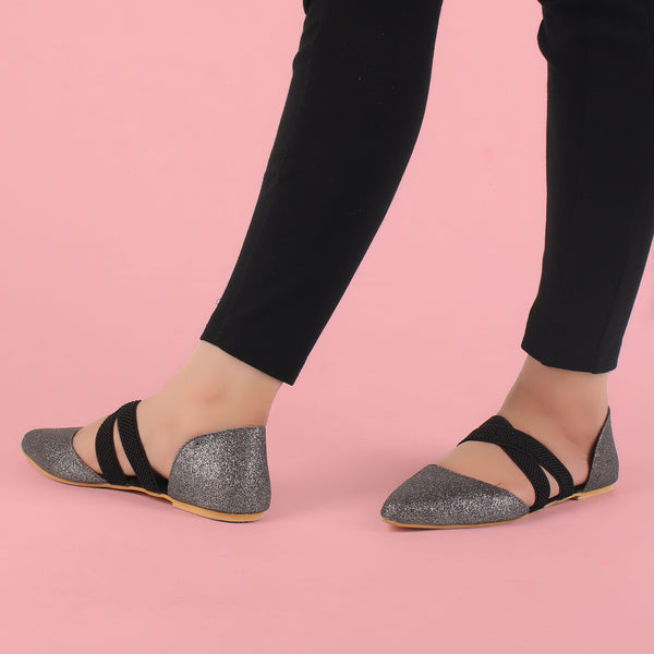 Foot Wear,Keep me Close Grey Flats - Cippele Multi Store