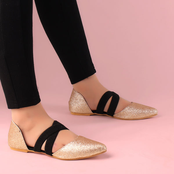 Foot Wear,Keep me Close Rose Gold Flats - Cippele Multi Store