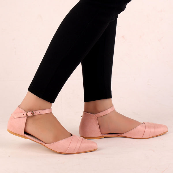 Foot Wear,The Graceful Suave Pink Flats - Cippele Multi Store