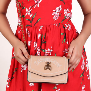 The Fabulous Queen Bee Nude Sling Bag