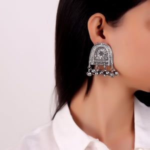Earrings,Ghungroo Oxidized Earrings - Cippele Multi Store