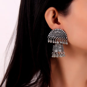 Earrings,Crescent Jhumkas with jhoomer - Cippele Multi Store
