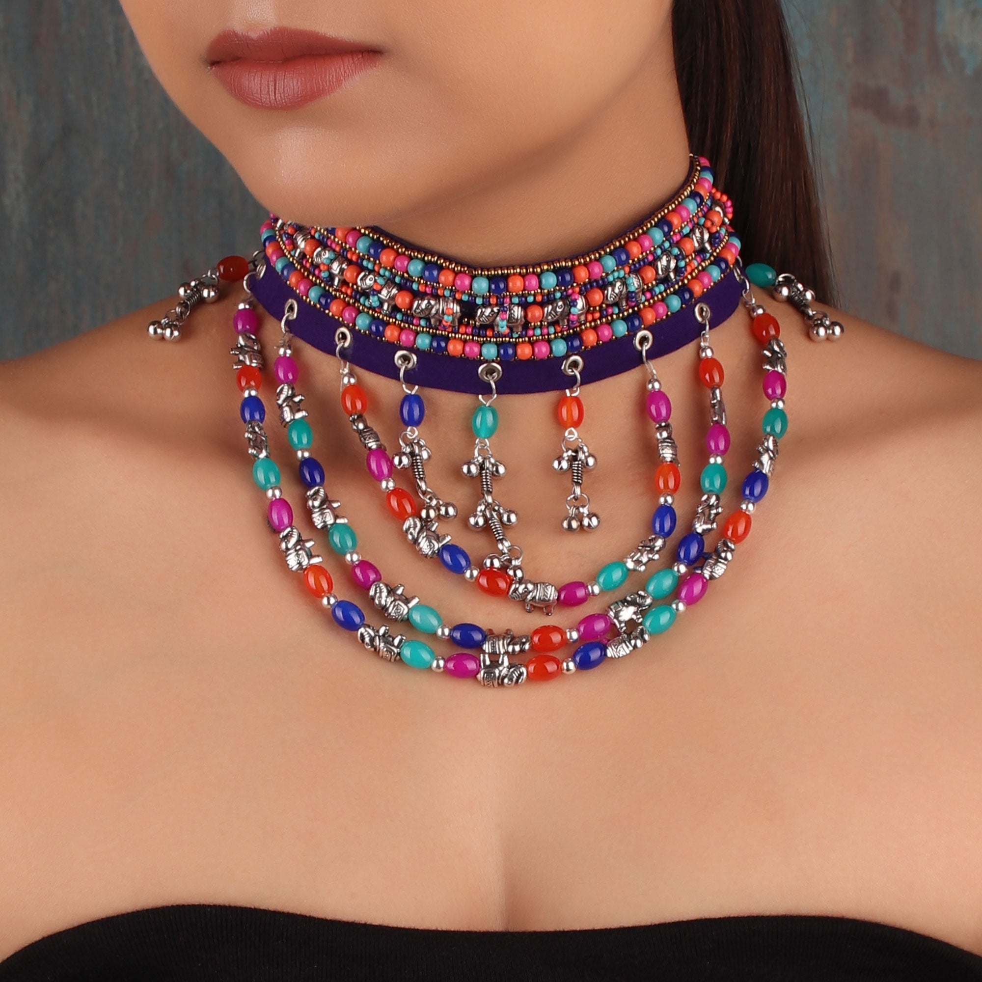 Necklace,The Colorful Pastel Choker - Cippele Multi Store