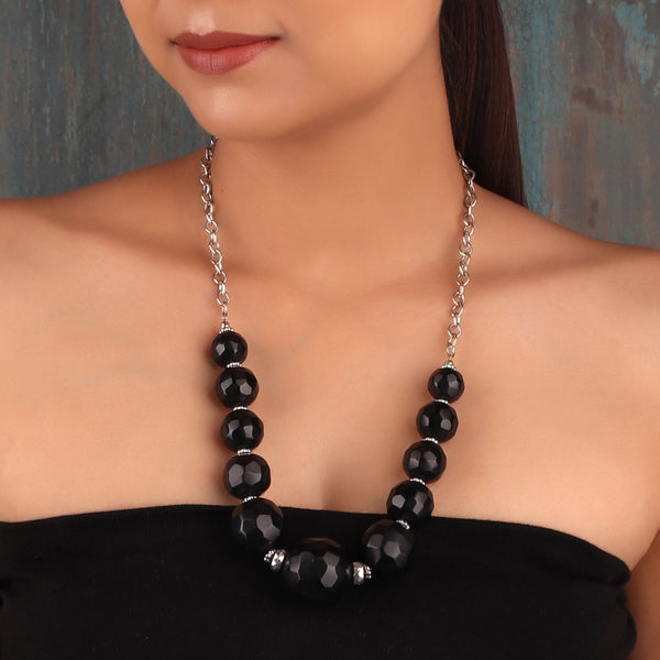 Necklace,The Ecstasy Poppye Necklace in Black - Cippele Multi Store