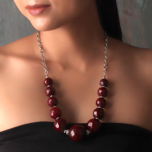 Necklace,The Ecstasy Poppye Necklace in Maroon - Cippele Multi Store