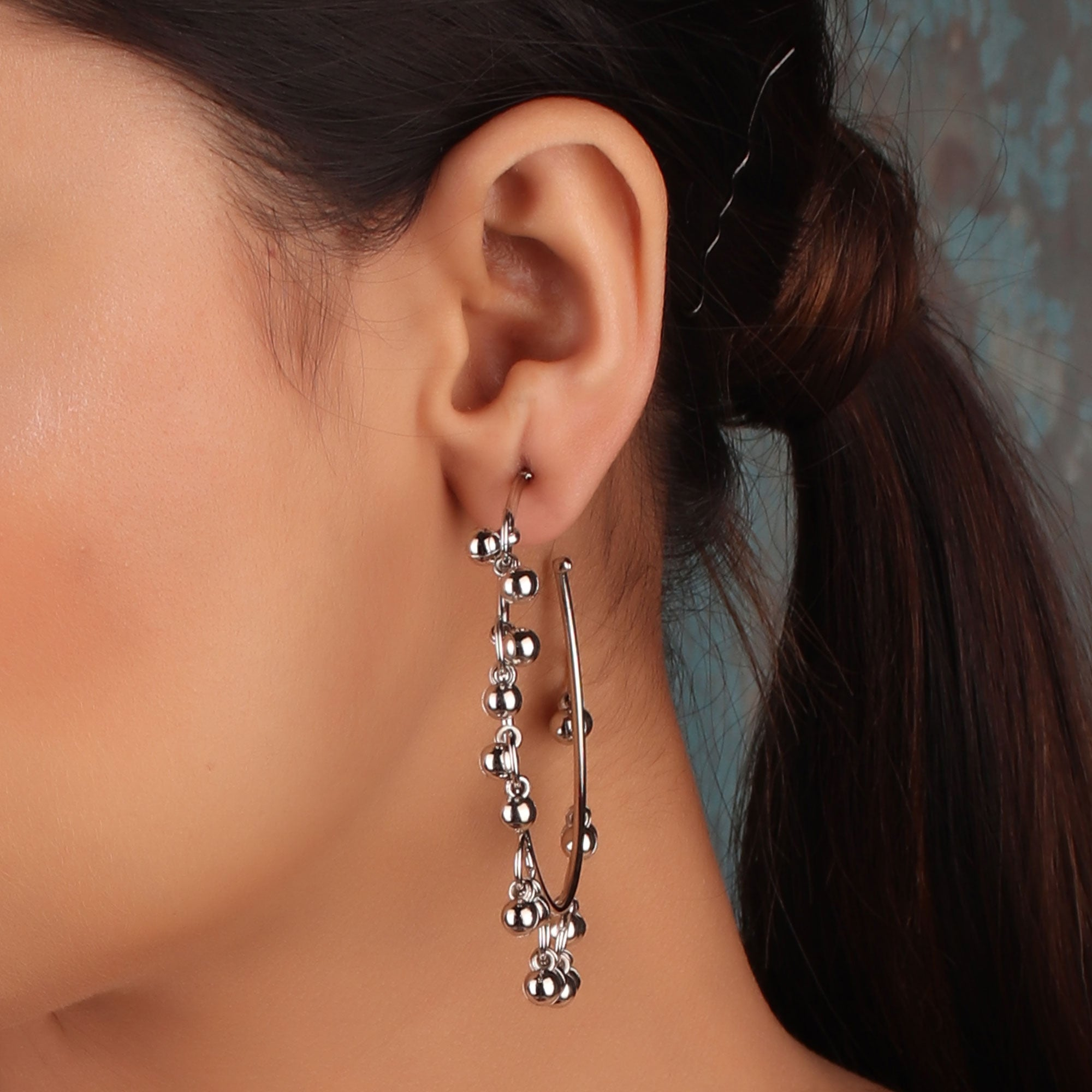 Earrings,The Ecstasy Bud wheel Earrings in Oxidized Silver - Cippele Multi Store