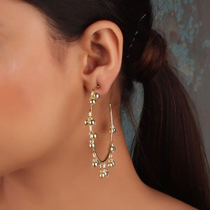 Earrings,The Ecstasy Bud wheel Earrings in Oxidized Golden - Cippele Multi Store