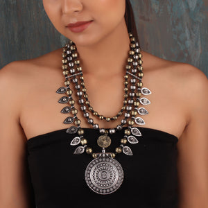 Necklace,The Glorious Regalia Multilayered Necklace - Cippele Multi Store
