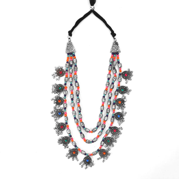 The Cookie Layered Necklace in Multicolor