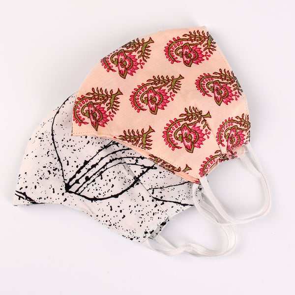 The Flower Bud and the Artistic Face Mask- Set of 2