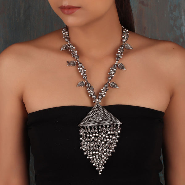 Necklace,The Vine Fence Necklace in Oxidized Silver - Cippele Multi Store