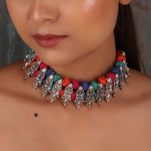 Necklace,The Tranquility Metal Threads Choker - Cippele Multi Store