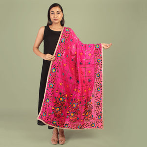 The Pretty Cutie Creeper Phulkari Dupatta