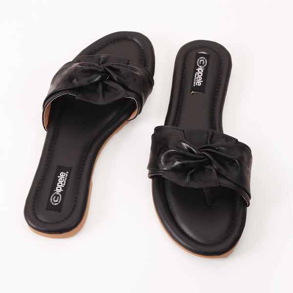 Foot Wear,Twist That Knot Flats in Black - Cippele Multi Store