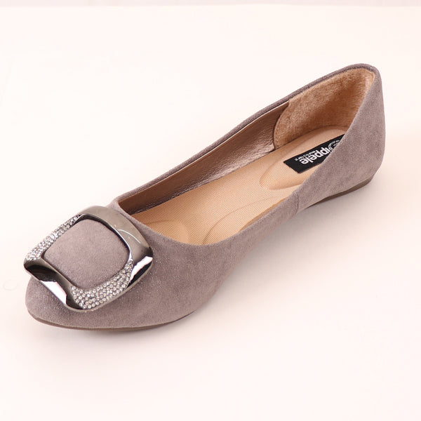 Foot Wear,Everyday Fun Flats in Grey - Cippele Multi Store
