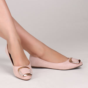 Foot Wear,Everyday Fun Flats in Baby Pink - Cippele Multi Store
