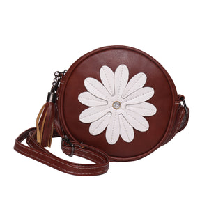 White Flower Cross Body  Bag