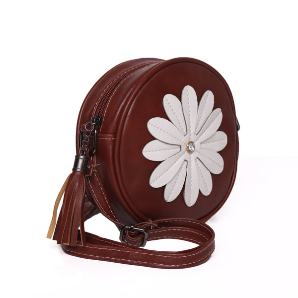 Sling Bag,White Flower Cross Body  Bag - Cippele Multi Store