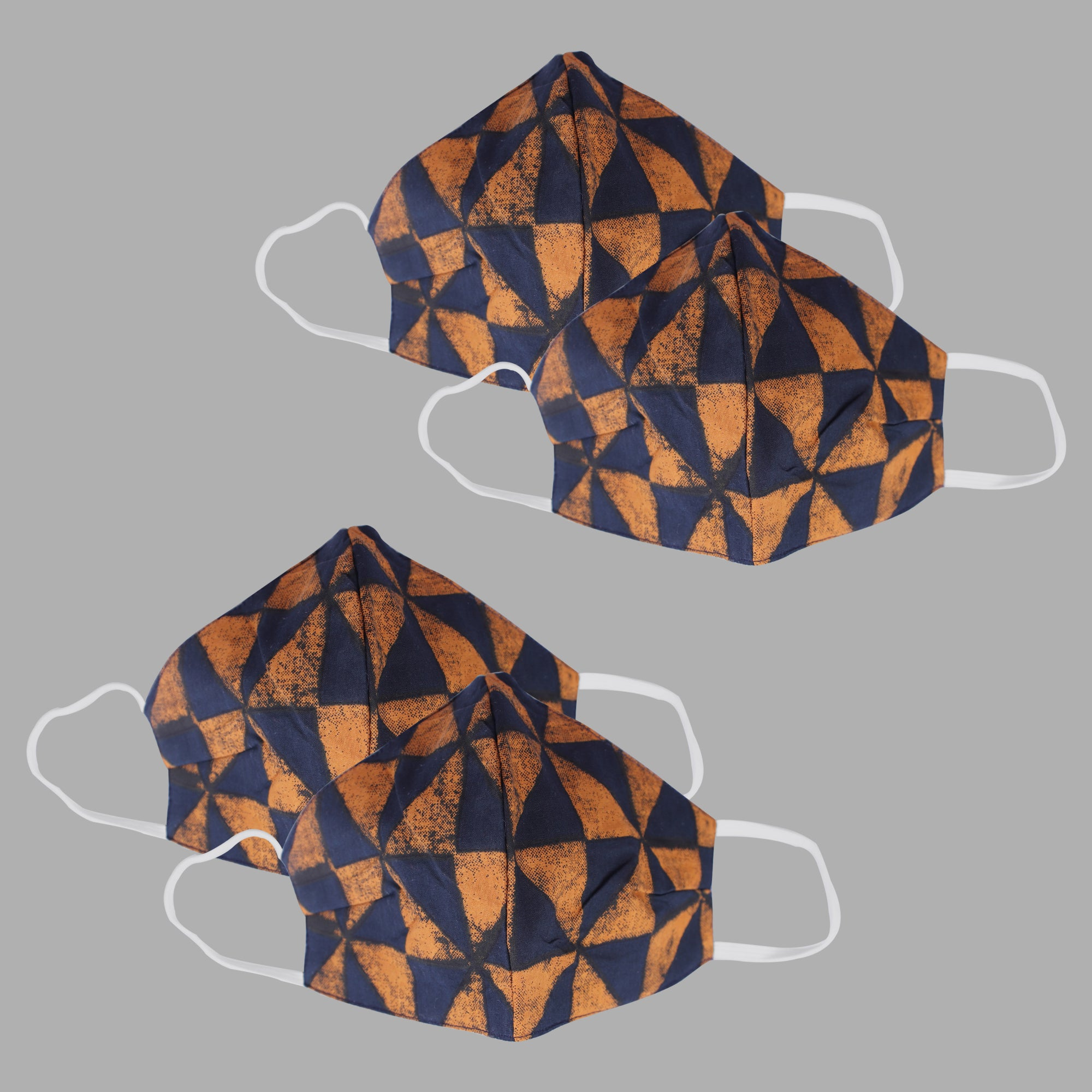 The Elegant Triangles Face Mask- Set of 4