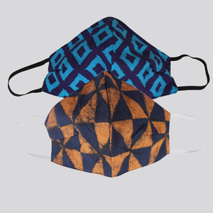The Squared Symphony and The Elegant Triangles Face Mask- Set of 2