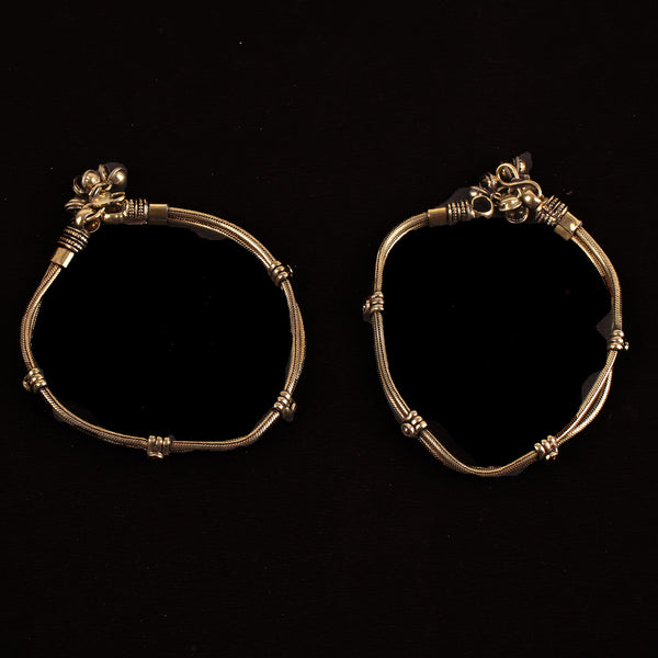 Anklet,The Ring Bud Anklet in Golden (Pair of Two) - Cippele Multi Store