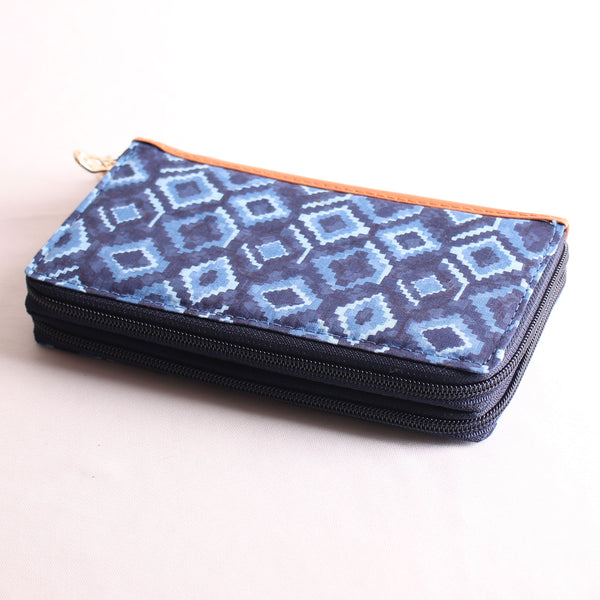 Wallet,The Electro Blue Block Wallet - Cippele Multi Store