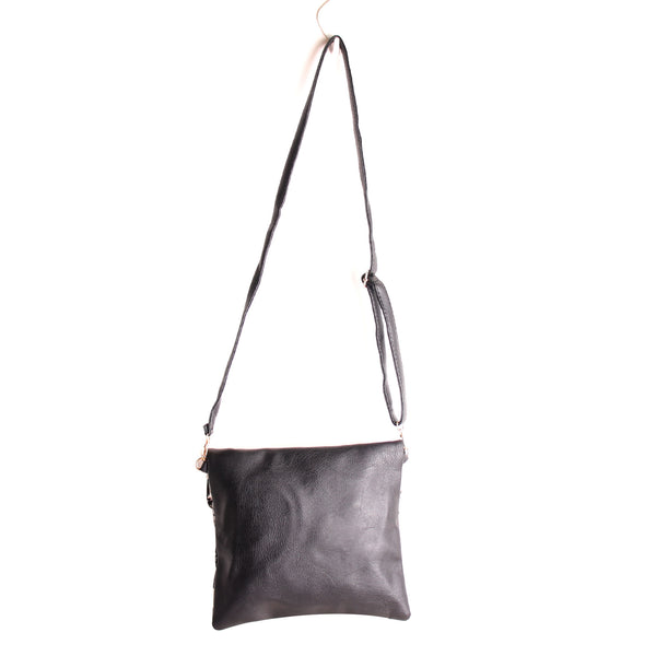 Sling Bag,The Roohdar Art Black Sling Bag with Grey Embroidery - Cippele Multi Store