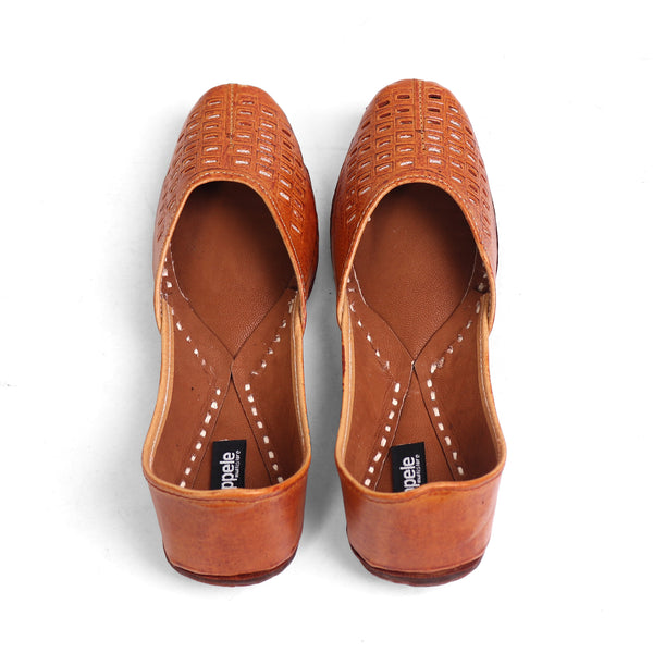 Foot Wear,Brown Nagra Jutti - Cippele Multi Store