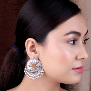 Earrings,The Trinky Silver Look Alike Shield Stud - Cippele Multi Store