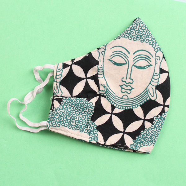 The Buddha Nirvana and The Unique Kolam Face Mask- Set of 2