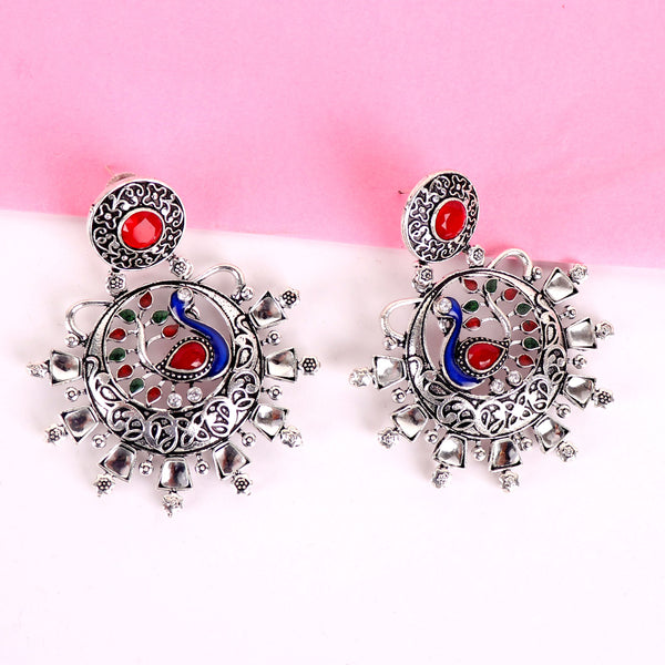 Earrings,The Shimmering Knight Midnight Blue Earrings - Cippele Multi Store