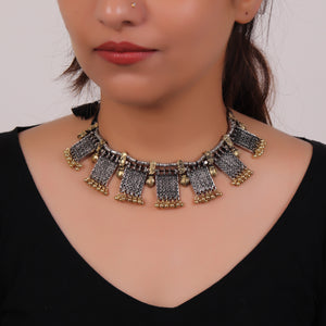 Necklace,The Chocolate Nutty Choker in Dual Tone - Cippele Multi Store