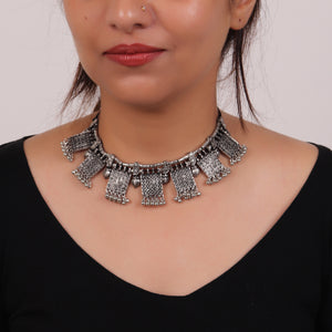 Necklace,The Chocolate Nutty Choker in Silver - Cippele Multi Store