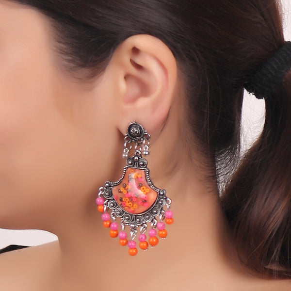 The Designer Spade in Pink & Orange
