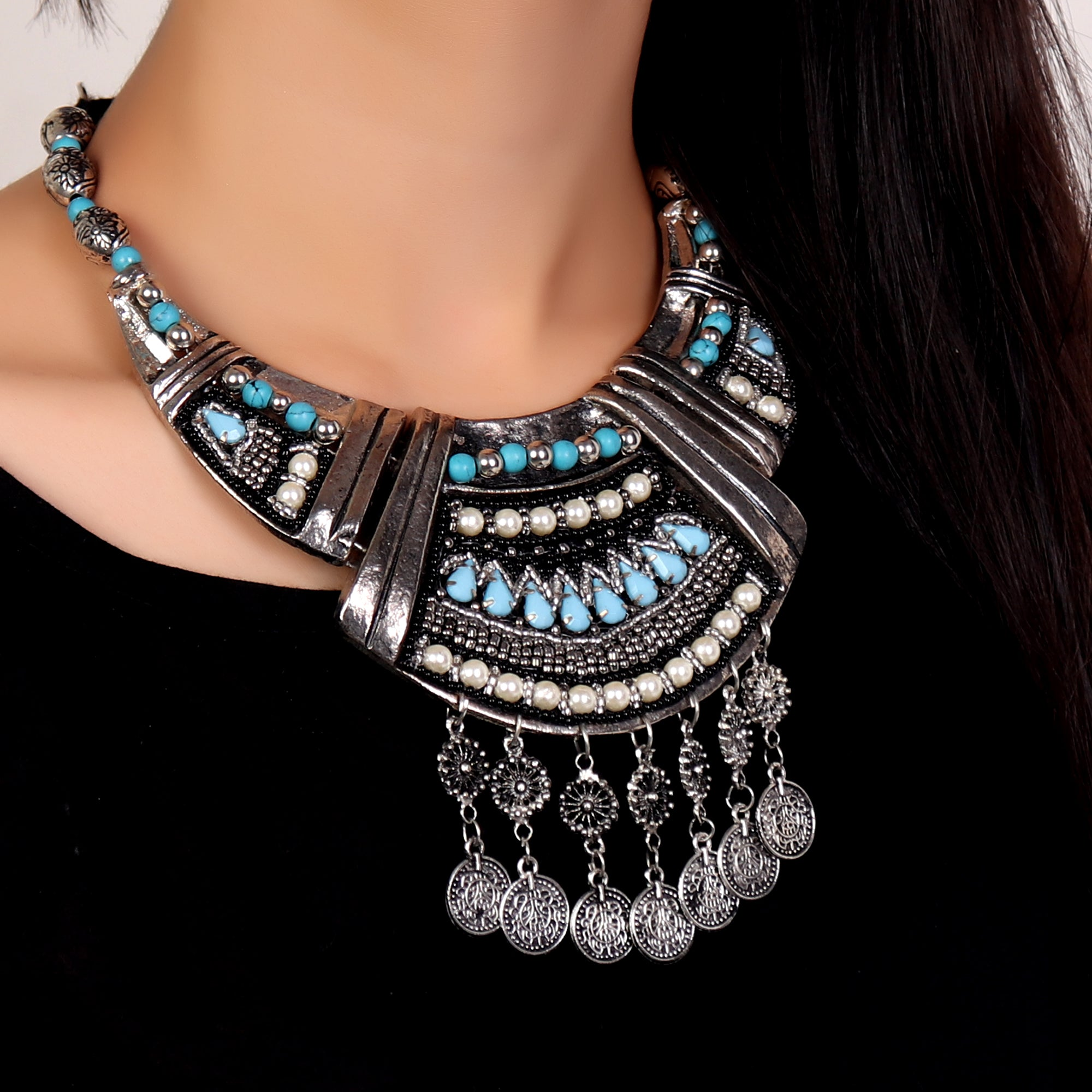 Necklace,Beaded Beauty Tribal Necklace - Cippele Multi Store