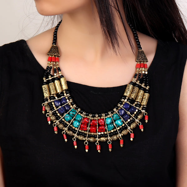 Necklace,Beads Are Fun Multicolored Necklace - Cippele Multi Store