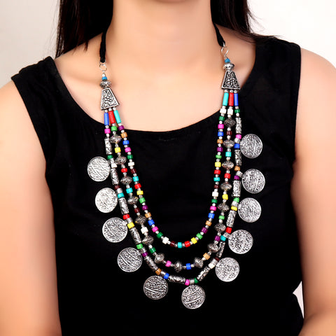 Necklace,Motifs Multi Stranded Necklace - Cippele Multi Store