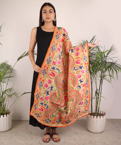 The Colorful Braided Phulkari Dupatta