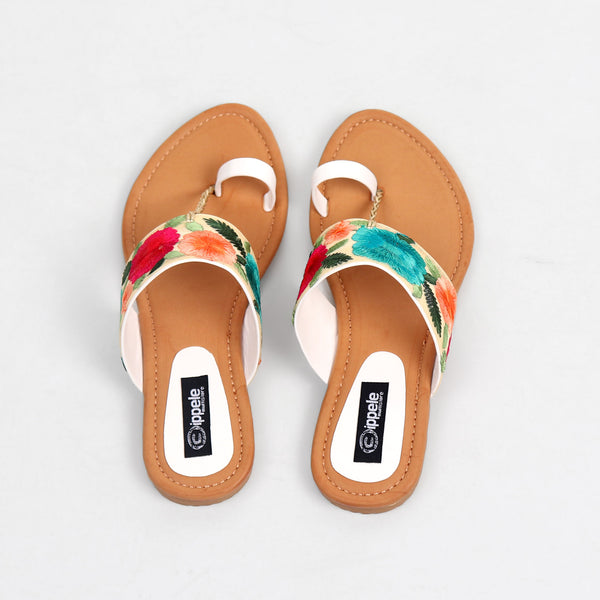 Foot Wear,Floral Fiesta Sandals in lighter shade - Cippele Multi Store
