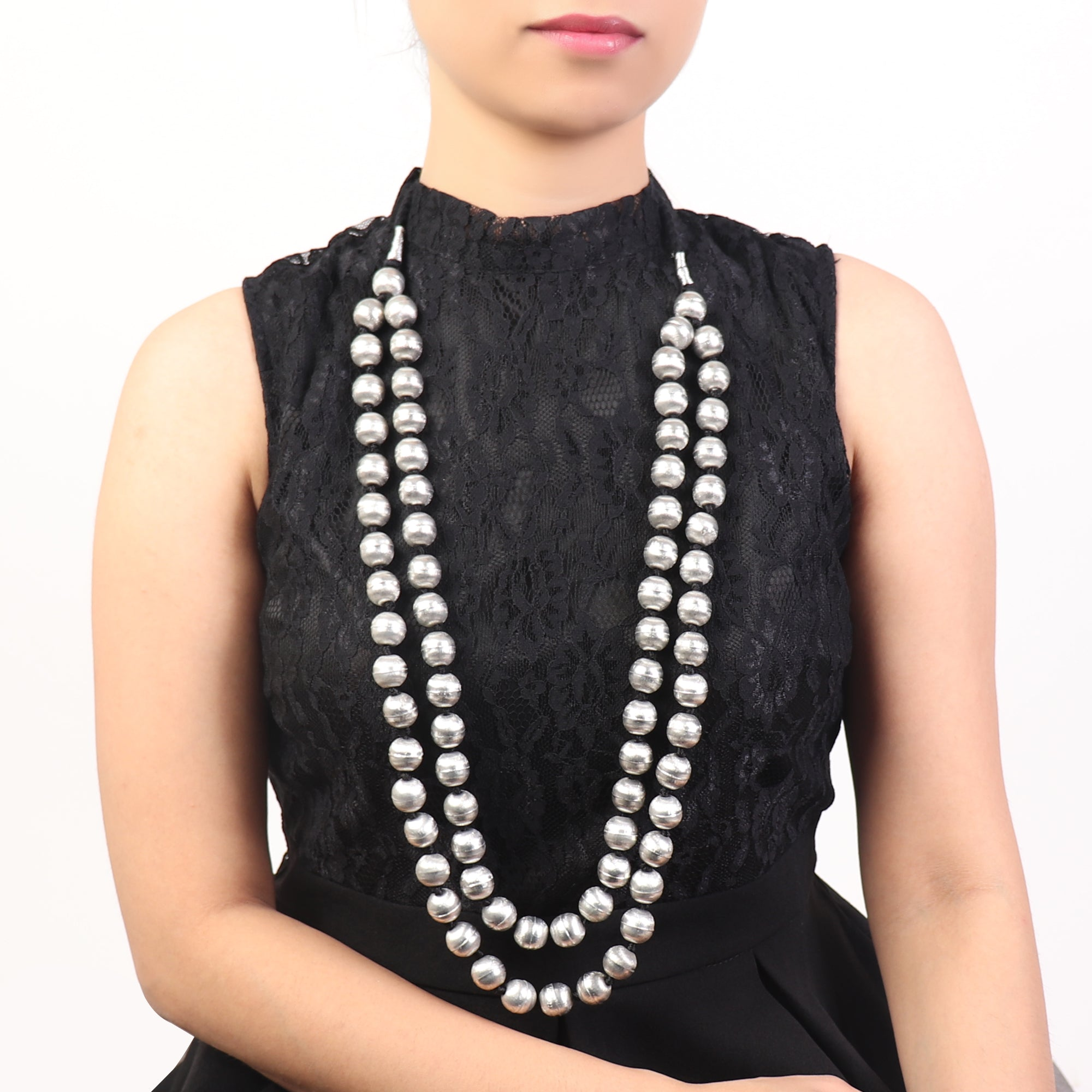Necklace,Silver Amazeballs Neck Piece - Cippele Multi Store