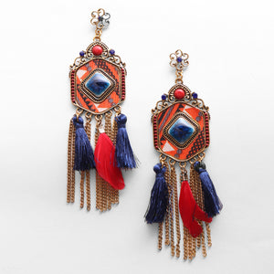 Tassels And Feathers Earrings