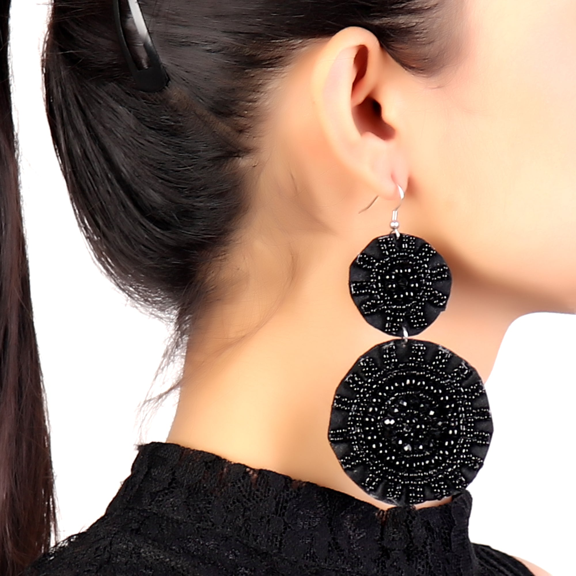 Earrings,Black Magic Velvet Earrings - Cippele Multi Store