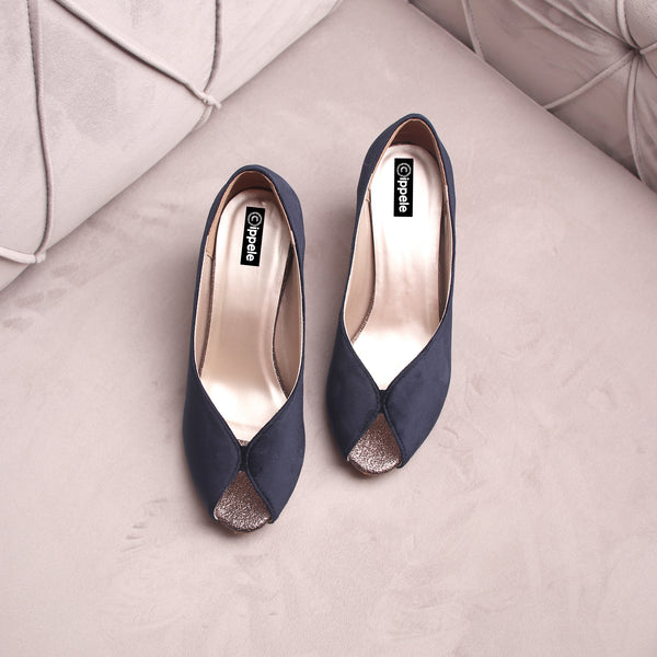 Foot Wear,The Stylish Sneaky Blue Heels - Cippele Multi Store