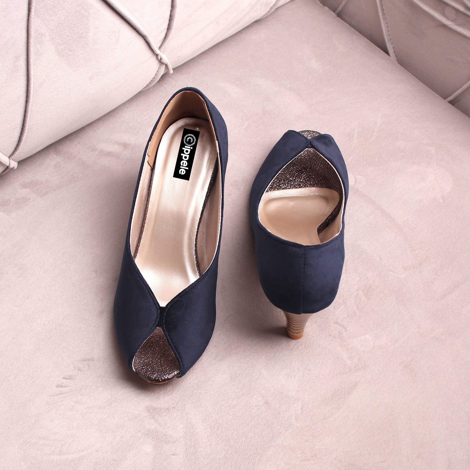 The Stylish Sneaky Blue Heels