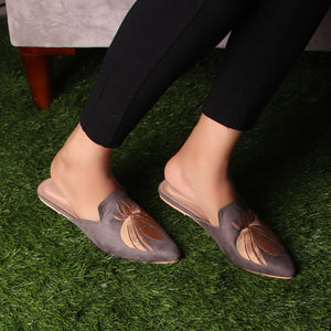 Foot Wear,The Iris Grey Mules - Cippele Multi Store
