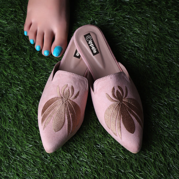 Foot Wear,The Iris Pink Mules - Cippele Multi Store
