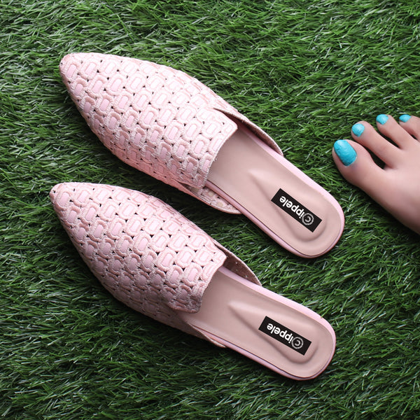 Foot Wear,The Quintessential Fabric Blocks Pink Mules - Cippele Multi Store