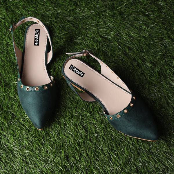 Foot Wear,The Misty Breezy Valentino In Green - Cippele Multi Store
